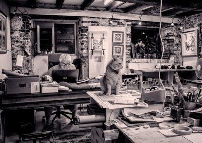 interno veneziano con gatto